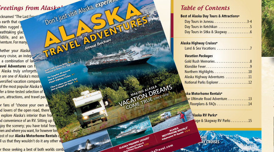 Alaska Travel Adventures Order Brochure  Alaska Travel Adventures